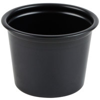 Dart Solo P100BLK Black 1 oz. Plastic Souffle / Portion Container - 250 / Pack