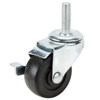 Turbo Air 30265H0200 Equivalent 2 1/2 inch Swivel Stem Caster with Brake
