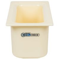 Carlisle CM1102C1402 Coldmaster CoolCheck 1/3 Size White Cold Food Pan - 6 inch Deep