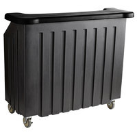 Cambro BAR540DS670 Coal and Black Designer Series Cambar 54 inch Portable Bar with 5-Bottle Speed Rail