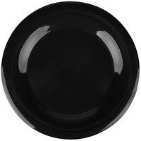 "Carlisle 3302403 Sierrus 12"" Black Wide Rim Melamine Plate - 12/Case"
