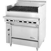 Garland / U.S. Range C836-36A Liquid Propane 36 inch Radiant Charbroiler With Standard Oven - 148,000 BTU