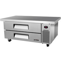 Turbo Air TCBE-48SDR-E 48 inch Two Drawer Refrigerated Chef Base with Extended Top - 9.2 cu. ft.