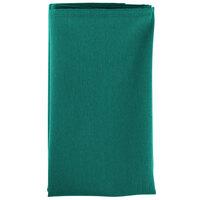 18 inch x 18 inch Teal Hemmed Polyspun Cloth Napkin - 12/Pack