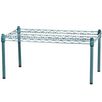 Regency 30 inch x 18 inch x 14 inch Green Epoxy Coated Wire Dunnage Rack - 600 lb. Capacity