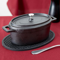 American Metalcraft CIPOV745 32 oz. Pre- Seasoned Mini Cast Iron Oval Dutch Oven with Lid