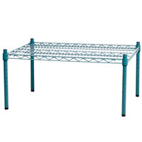 Regency 30 inch x 24 inch x 14 inch Green Epoxy Coated Wire Dunnage Rack - 600 lb. Capacity