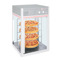 Hatco FSDT4TCR 4-Tier Circle Display Rack With Pizza Pan Retainers for FSDT Holding and Display Cabinets