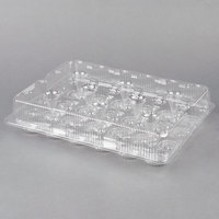 Polar Pak 2443 24 Compartment Clear Cupcake / Muffin Takeout Container - 5/Pack