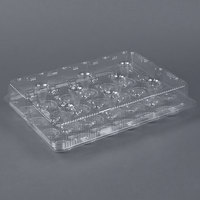Par-Pak 2443 24 Compartment Clear Cupcake / Muffin Takeout Container - 5 / Pack