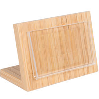 Cal-Mil 1103-23-12 3 inch x 2 inch Bamboo Framed Displayette