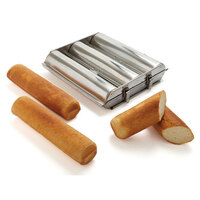 Matfer 341712 Stainless Steel Round Bread Mold with (3) 2 3/4 inch Compartments