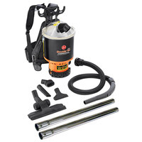 Hoover C2401-010 6.4 Qt. Commercial Backpack Vacuum Cleaner with 1 1/4 inch Attachments