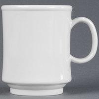 GET TM-1308-W Diamond White 8 oz. White Tritan Stacking Mug - 24/Case