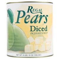 Regal Foods #10 Can Diced Pears in Light Syrup - 6/Case