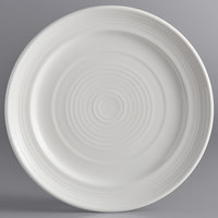 Tuxton CWA-104 Concentrix 10 1/2 inch White China Plate - 12/Case