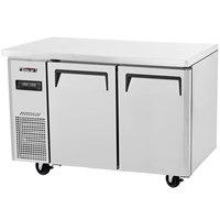 Turbo Air JURF-48 47 1/4 inch Dual Temperature Undercounter Refrigerator / Freezer - 9.53 Cu. Ft.