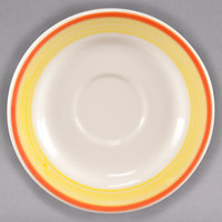 Homer Laughlin 2828082 Martiques 6 inch Rolled Edge Boston Saucer - 36/Case
