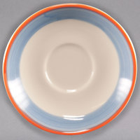 Homer Laughlin 2828084 Imperia 6 inch Rolled Edge Boston Saucer - 36/Case