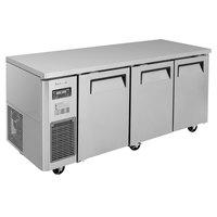 Turbo Air JURF-72-N 70 7/8 inch Dual Temperature Undercounter Refrigerator / Freezer - 17.7 Cu. Ft.