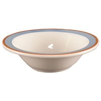 Homer Laughlin 1708084 Imperia 9 oz. Rolled Edge Grapefruit Bowl - 36/Case