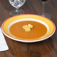 Homer Laughlin 2538082 Martiques 12.75 oz. Rolled Edge Rim Soup Bowl - 24/Case