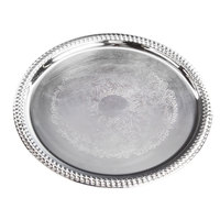 Carlisle 608907 Celebration 14 inch Embossed Round Gadroon Tray