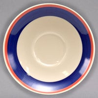 Homer Laughlin 2828072 Sovona 6 inch Rolled Edge Boston Saucer - 36/Case