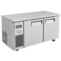 Turbo Air JURF-60-N 59 inch Dual Temperature Undercounter Refrigerator / Freezer - 12.74 Cu. Ft.