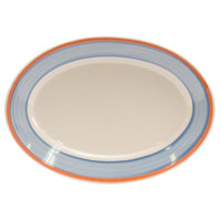 Homer Laughlin 1548084 Imperia 10 1/2 inch Rolled Edge Oval Platter - 24/Case