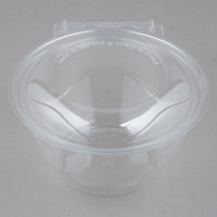 Polar Pak 5HGR032-TV Clear Tamper-Visible 32 oz. Round Bowl with Lid - 50/Pack