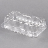 Polar Pak 2126 2 Compartment Hinged Clear Muffin Takeout Container - 25/Pack