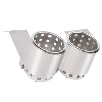 Steril-Sil UB-2SW Two Hole Under Bar Silverware Dispenser with Two S-500 Cylinders