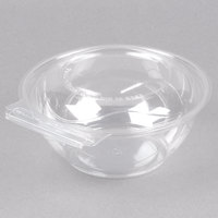 Polar Pak 5HGR024-TV Clear Tamper-Visible 24 oz. Round Bowl with Lid - 50/Pack