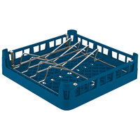 Vollrath 52664 Signature Full-Size Royal Blue Open End Sheet Pan / Tray Rack