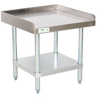 Regency 24 inch x 24 inch 16-Gauge Stainless Steel Equipment Stand with Galvanized Undershelf
