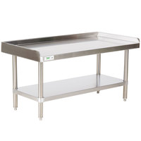 Regency 24 inch x 48 inch 16-Gauge Stainless Steel Equipment Stand With Undershelf