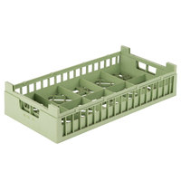 Vollrath 52806 Signature Half-Size Light Green 10 Compartment 4 1/8 inch Tall Cup Rack
