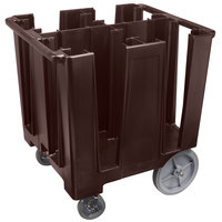 Cambro DCS1125131 Dark Brown Versa Dish Caddy - 4 Column