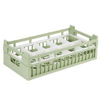 Vollrath 52820 Signature Half-Size Light Green 10-Compartment 5 11/16 inch Medium Rack