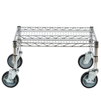 Regency 18 inch x 24 inch x 14 inch Chrome Plated Mobile Dunnage Rack Kit with Tubular Frame - 600 lb. Capacity