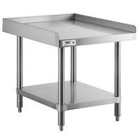 Regency 30 inch x 24 inch 16-Gauge Stainless Steel Equipment Stand with Undershelf