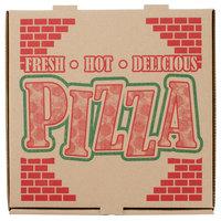 12 inch x 12 inch x 1 3/4 inch Kraft Corrugated Pizza Box - 50/Case