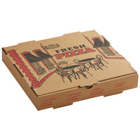 Choice 12 inch x 12 inch x 1 3/4 inch Kraft Corrugated Pizza Box - 50/Case