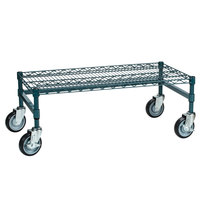 Regency 18 inch x 36 inch x 14 inch Green Epoxy Coated Mobile Dunnage Rack Kit with Tubular Frame - 600 lb. Capacity