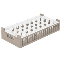 Vollrath 52819 Signature Half-Size Cocoa 32-Compartment 5 11/16 inch Medium Rack