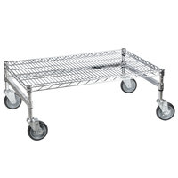Regency 24 inch x 36 inch x 14 inch Chrome Plated Mobile Dunnage Rack Kit with Tubular Frame - 600 lb. Capacity