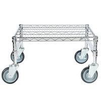 Regency 24 inch x 24 inch x 14 inch Chrome Plated Mobile Dunnage Rack Kit with Tubular Frame - 600 lb. Capacity