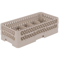 Vollrath HR1C1A Traex® Half-Size Beige 10 Compartment 5 1/2 inch Tall Glass Rack
