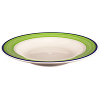 Homer Laughlin 3805083 Shamrock and Cobalt 20 oz. Rolled Edge Pasta Bowl - 12/Case